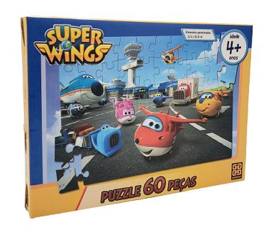 Quebra-Cabeça 60 peças - Grow - Super Wings