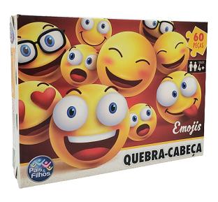 Quebra-Cabeça 60 peças - Pais & Filhos - Emojis