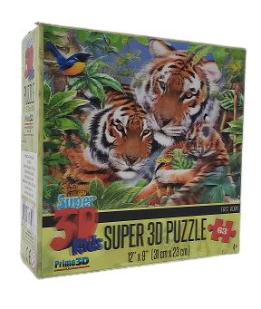 Quebra-Cabeça 63 peças - Super 3D Puzzle Kids - First Born