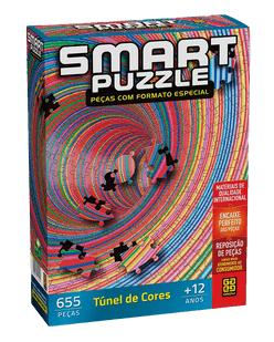 Quebra-Cabeça 655 peças - Grow - Smart Puzzle - Tunel de Cores