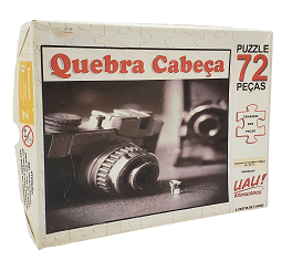 Quebra-Cabeça 72 peças - Uau Brinquedos - Maquina Fotografica