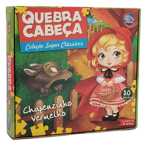 Quebra-Cabeça 80 peças - Pais & Filhos - Chapeuzinho Vermelho