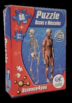 Quebra-Cabeça 80 peças - Science4 you - Ossos e Musculos - acompanha livro de 16 pg