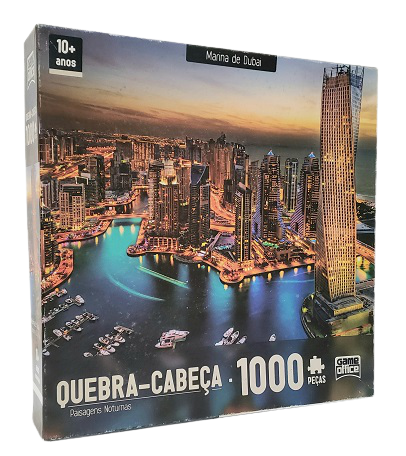Quebra-Cabeças 1000 peças - Game Office - Marina de Dubai