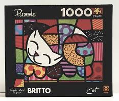 Quebra-Cabeças 1000 peças - Grow - Cat, Romero Britto