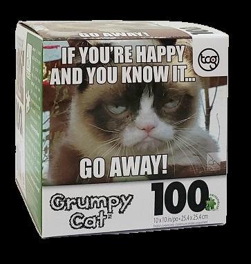 Quebra-Cabeças 100 peças - Sure-Lox, Grumpt Cat - If You're Happy