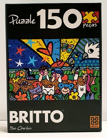 Quebra-Cabeças 150 peças - Grow - Mias Garden, Romero Britto