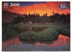 Quebra-Cabeças 2000 peças - Milton Bradley - Born Lakes in The White