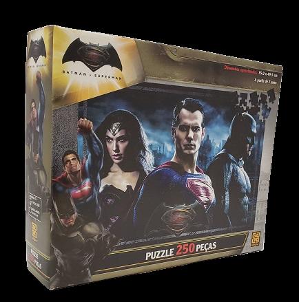 Quebra-Cabeças 250 peças - Grow - Batman x Superman