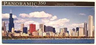 Quebra-Cabeças 350 peças - Panoramic - Chicago City Skyline