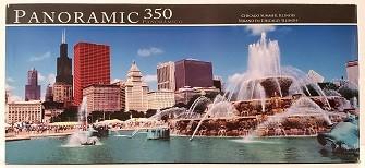 Quebra-Cabeças 350 peças - Panoramic - Chicago Summer, Illinois