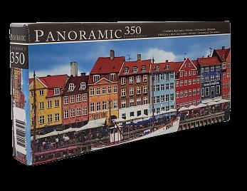 Quebra-Cabeças 350 peças - Panoramic - Colorful Buildins, Copenhagem