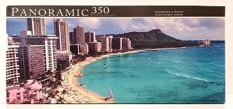 Quebra-Cabeças 350 peças - Panoramic - Waikiki Beach, Hawai