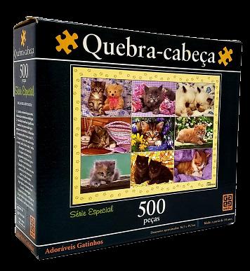 Quebra-Cabeças 500 peças - Grow - Adoráveis Gatinhos