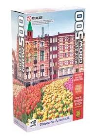 Quebra-Cabeças 500 peças -Grow - Flores de Amsterdã