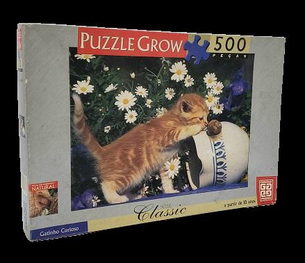 Quebra-Cabeças 500 peças - Grow - Gatinho Curioso