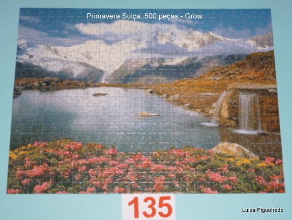 Quebra-Cabeças 500 peças - Grow - Primavera Suiça