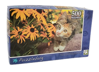 Quebra-Cabeças 500 peças - Puzzlebug - Kitten in the Black-Eyed