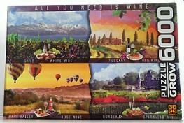 Quebra-Cabeças 6000 peças - Grow - All You Need is Wine