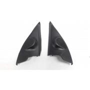 Par moldura acabamento interno retrovisor Peugeot 206 207 2008-2012 elétrico original