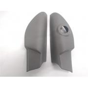 Par moldura acabamento interno Retrovisor Grand Siena / Novo Palio Cinza Original Elétrico