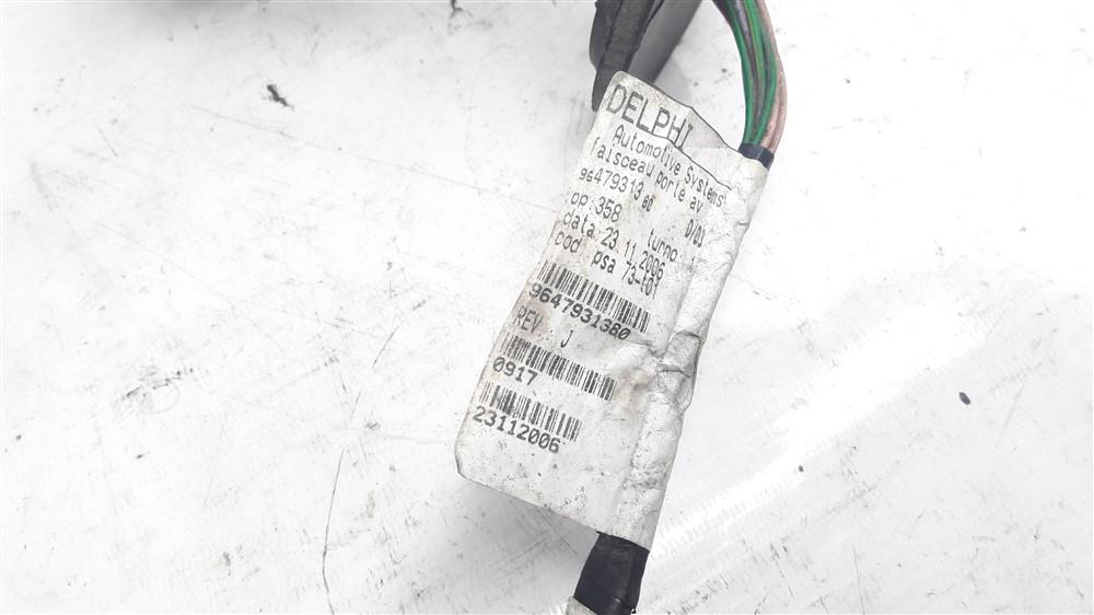 Chicote fiação elétrica porta Peugeot 206 dianteiro direito original