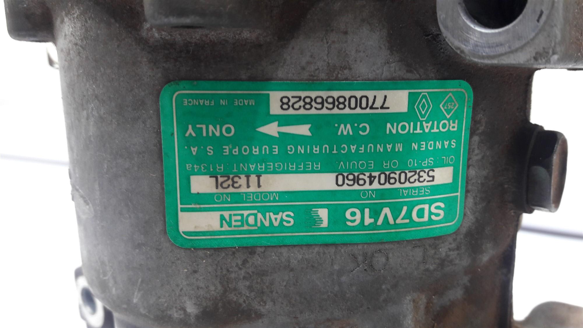 COMPRESSOR AR CONDICIONADO 2.0 8V RENAULT SCENIC 96 97 98 99 2000 2001