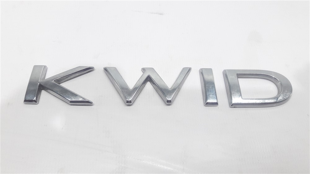 Emblema letras tampa traseira porta malas Renault Kwid 2017 2018 2019 2020 original