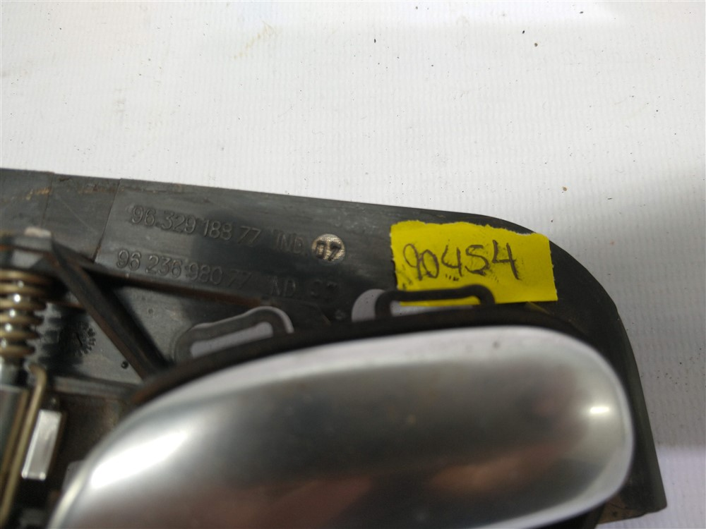 Maçaneta puxador interno porta direito prata Peugeot 206 207