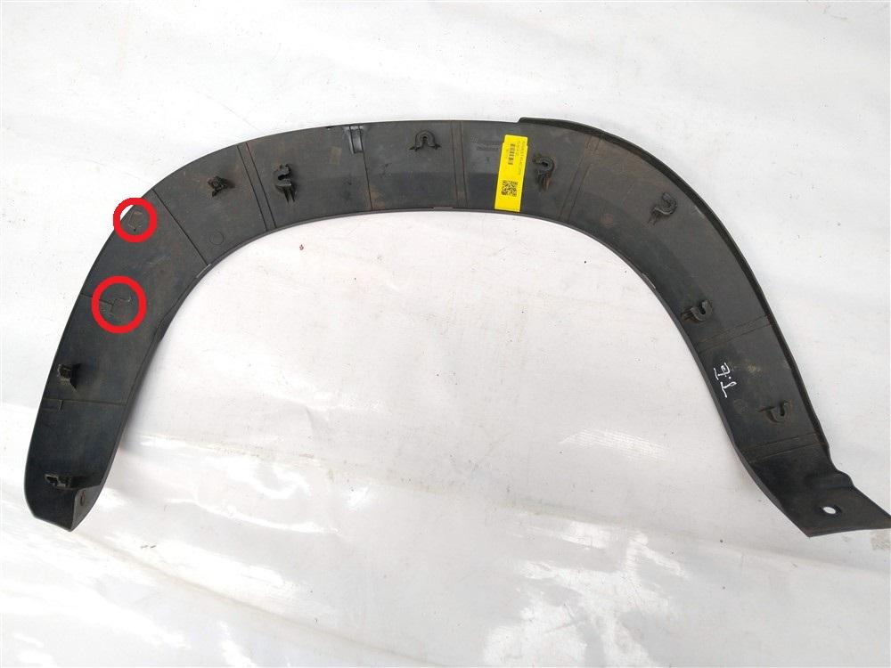 Moldura acabamento paralama Renault Kwid traseiro esquerdo com detalhe original