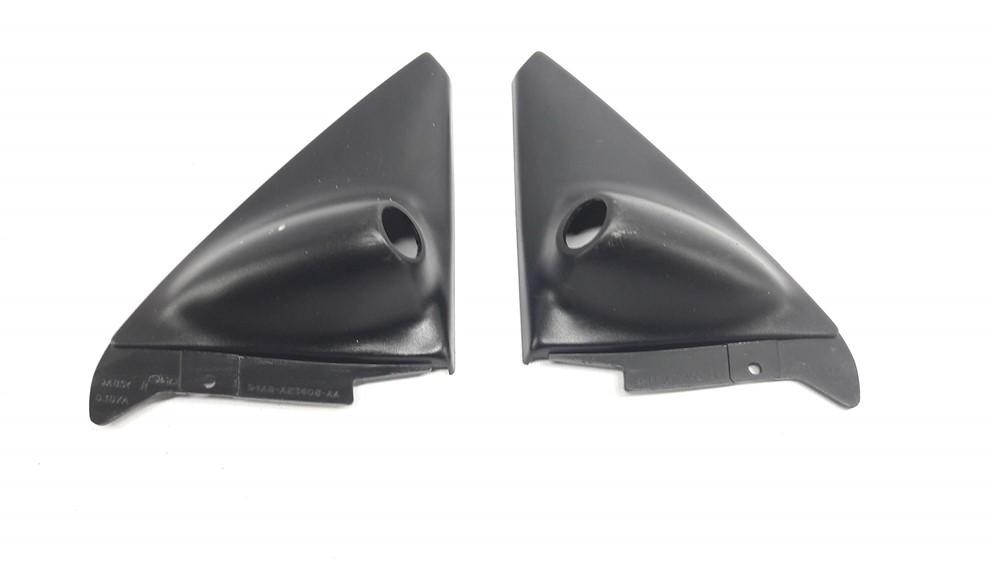 Par moldura acabamento interno retrovisor Escort 1998 99 2000 2001 2002 2003 manual original