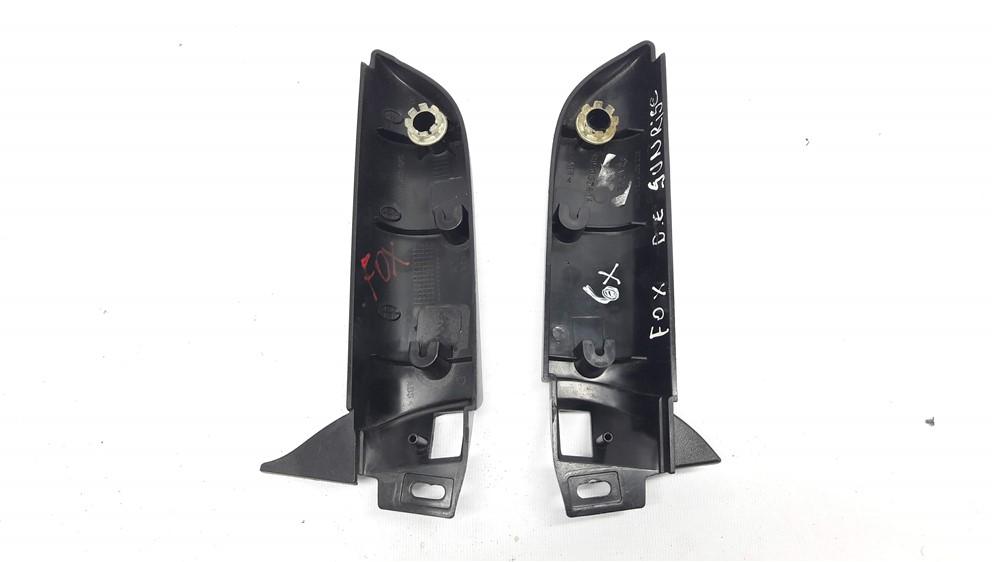 Par moldura acabamento interno retrovisor Fox 2003 4 5 6 7 8 9 10 11 12 13 elétrico original