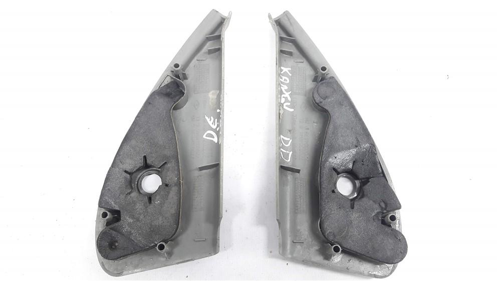 Par moldura acabamento interno retrovisor Kangoo 1997-2017 manual cinza claro original