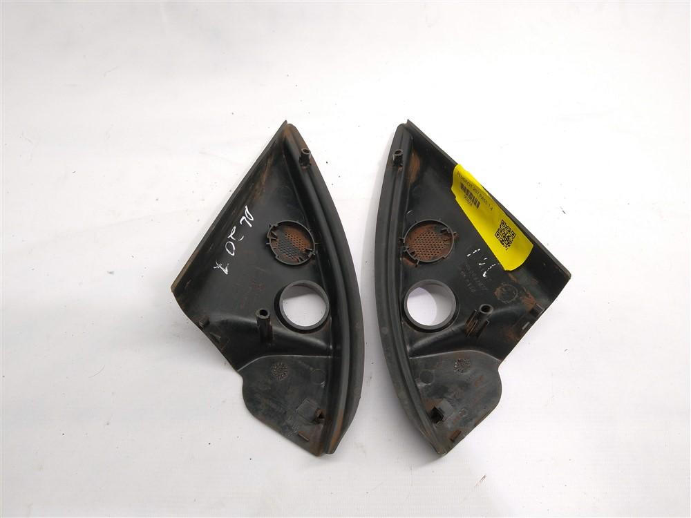 Par moldura acabamento interno retrovisor Peugeot 206 207 2001-2007 manual original