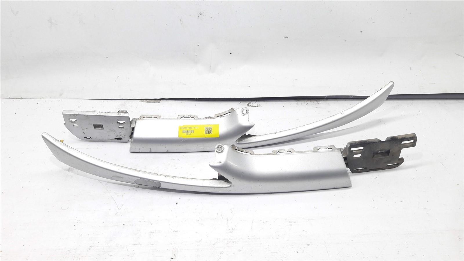 Par Moldura Farol Bigode Superior Parachoque Peugeot 206 Oriiginal