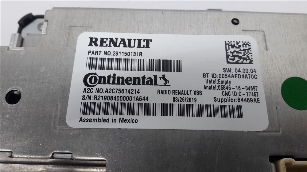Rádio som bluetooth usb Renault Kwid Original