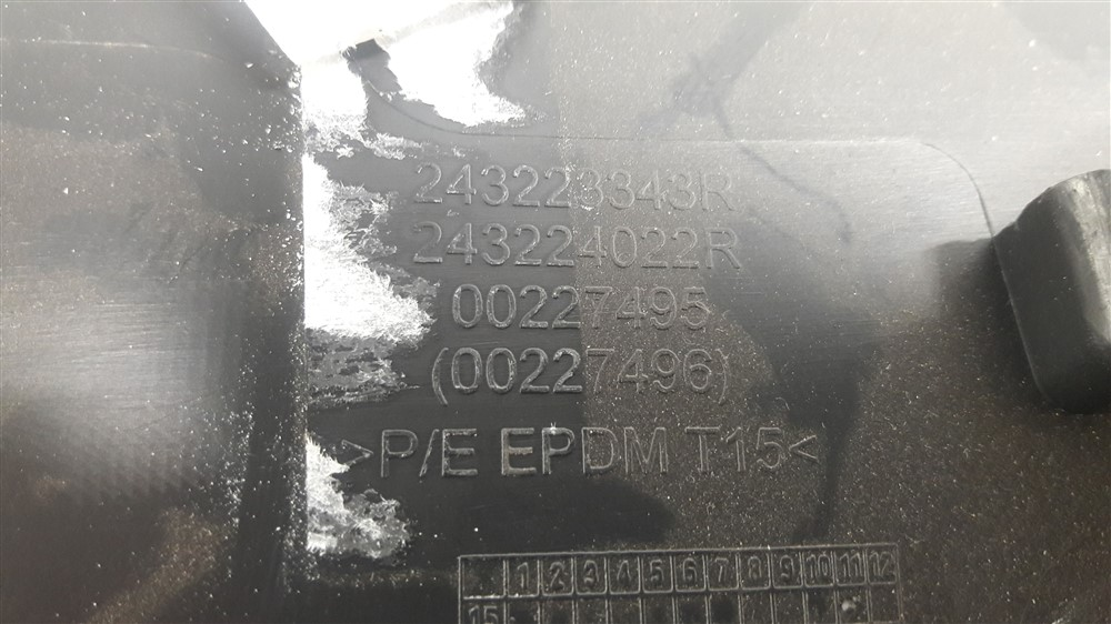 Tampa caixa de fusíveis painel Captur original