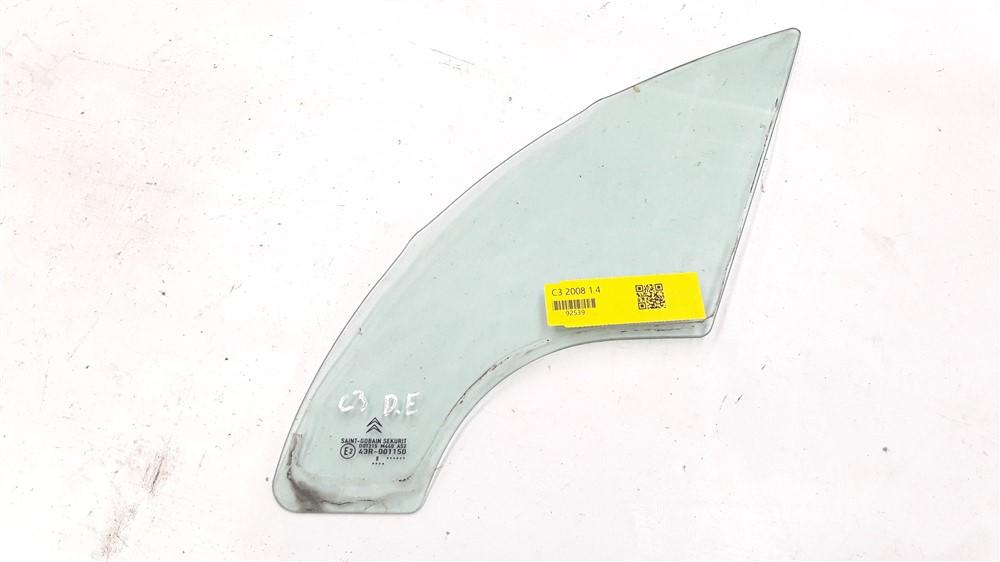 Vidro fixo porta Citroen C3 2003 2004 2005 2006 2007 2008 2009 2010 2011 2012 dianteiro esquerdo original