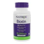 Natrol Biotina Tratamento Crescimento Cabelos Original 100 Cp