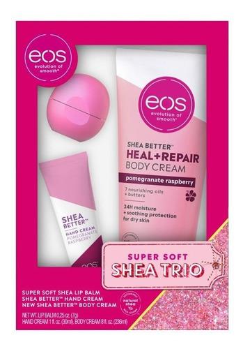 Eos Kit Trio Lip Balm Hidratante Mãos E Corpo