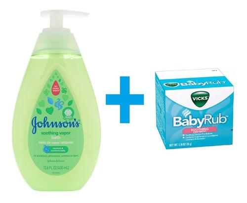 Johnsons Vapor Bath + Vicks Babyrub