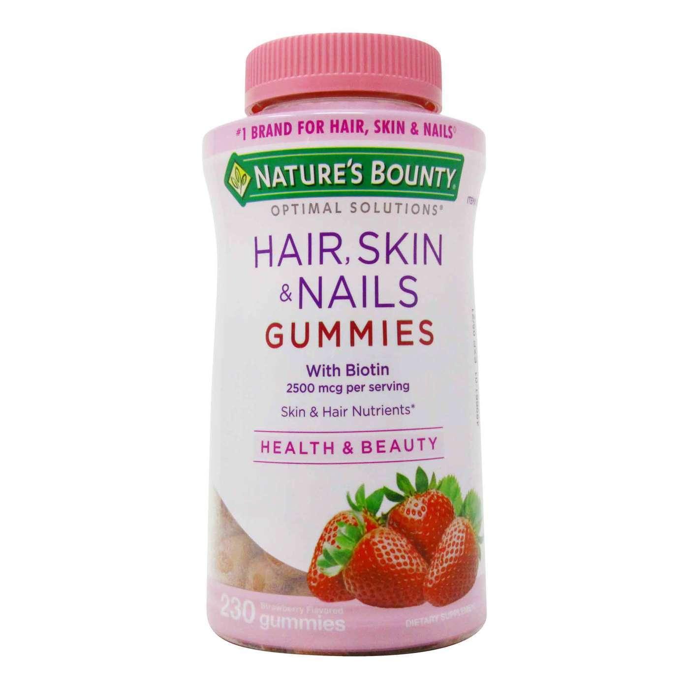Natures Bounty Vitamina Hair Skin Nails 2500 mcg 230 Gummies