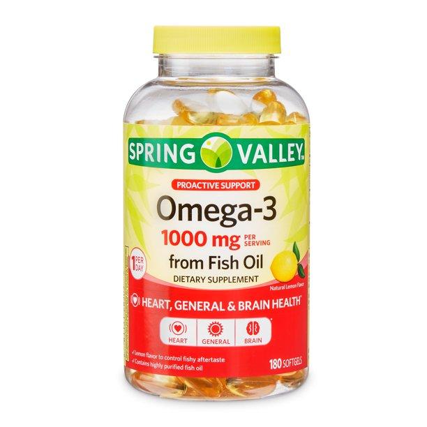 Spring Valley Omega 3 1000mg 60 Capsulas Sabor Limão
