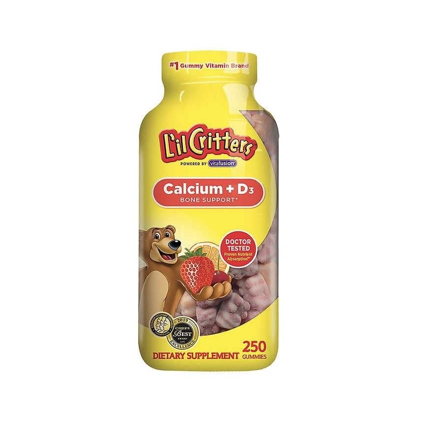 Vitamina Lil Critters Calcium + D3 250 Gummies