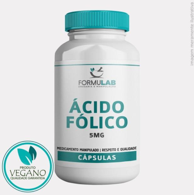 Ácido Fólico 5mg Vitamina B9 - VEGANA
