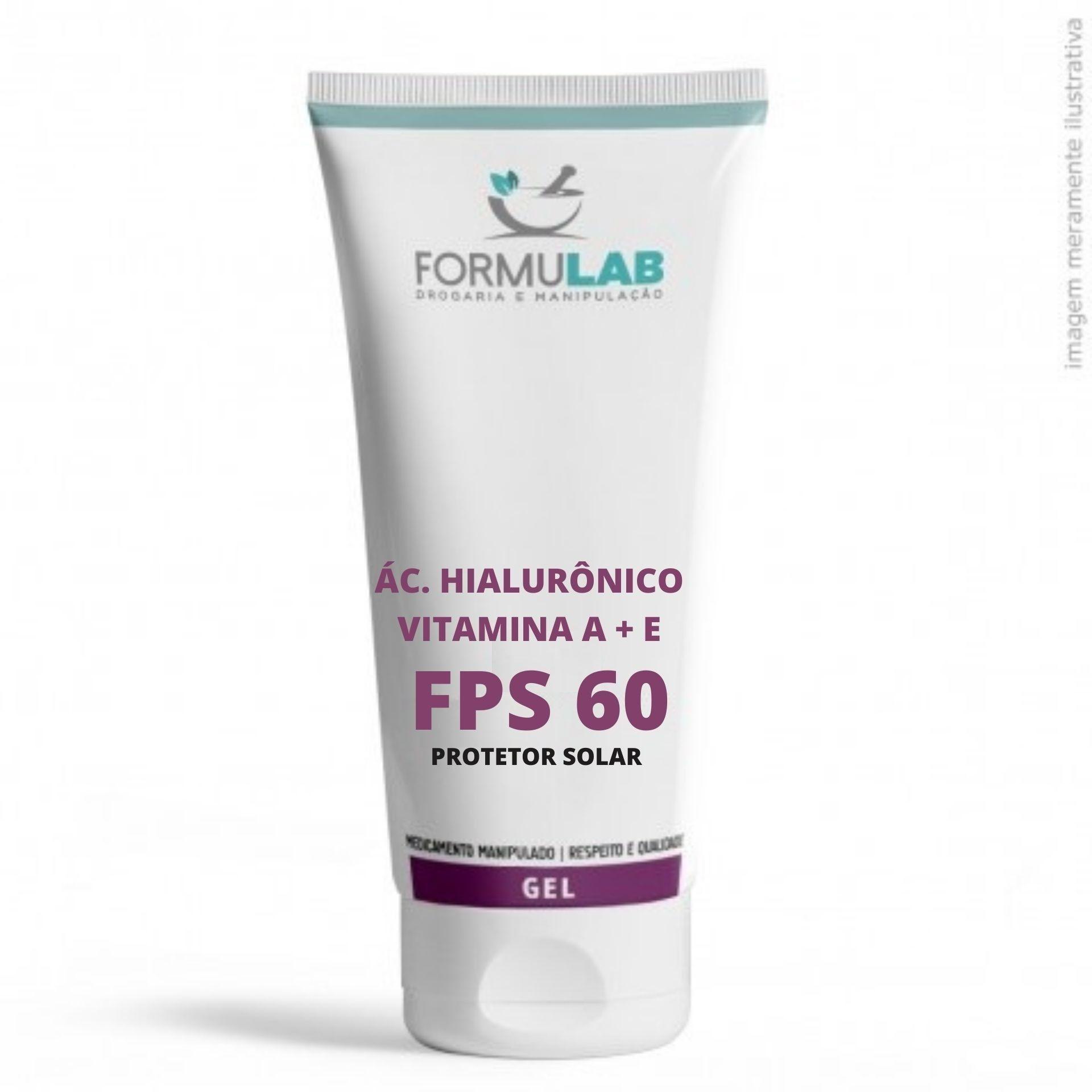 Ácido Hialurônico 1% + Vitamina A 1% + Vitamina E 1% + Protetor Solar FPS 60 Toque Seco - 60 Gramas