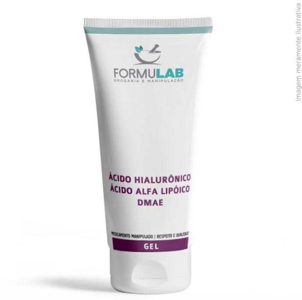Ácido Hialurônico 5% + Ácido Lipóico 3% + Dmae 10% - Gel Creme Oil Free 60 gramas