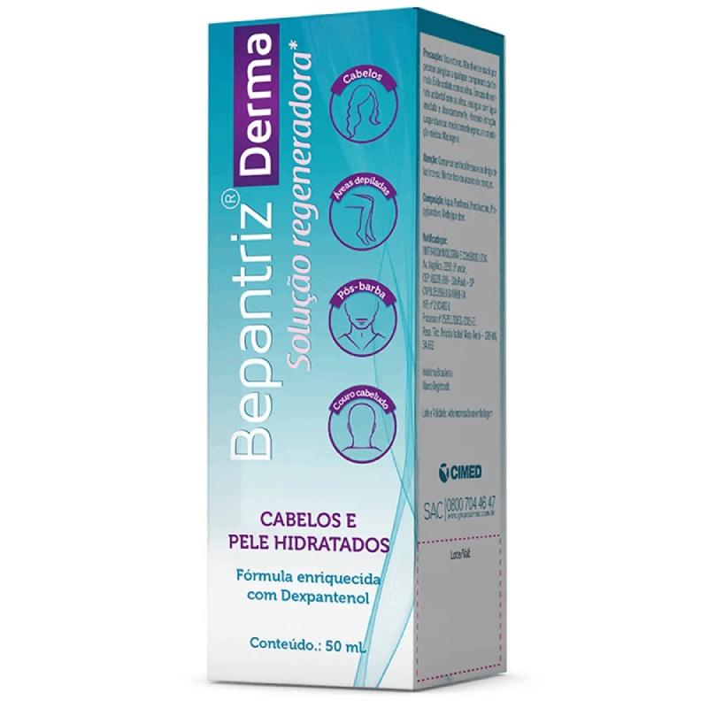 Bepantriz  Derma Solução Regeneradora (Cabelos e Peles Hidratados) Cimed 50ml