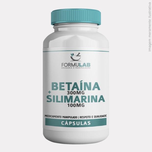 Betaína 300mg + Silimarina 100mg
