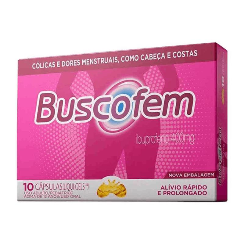 Buscofem- Ibuprofeno 400mg (10 cápsulas LIQUI-GELS)